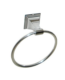 Arista Leonard Towel Ring Chrome Finish