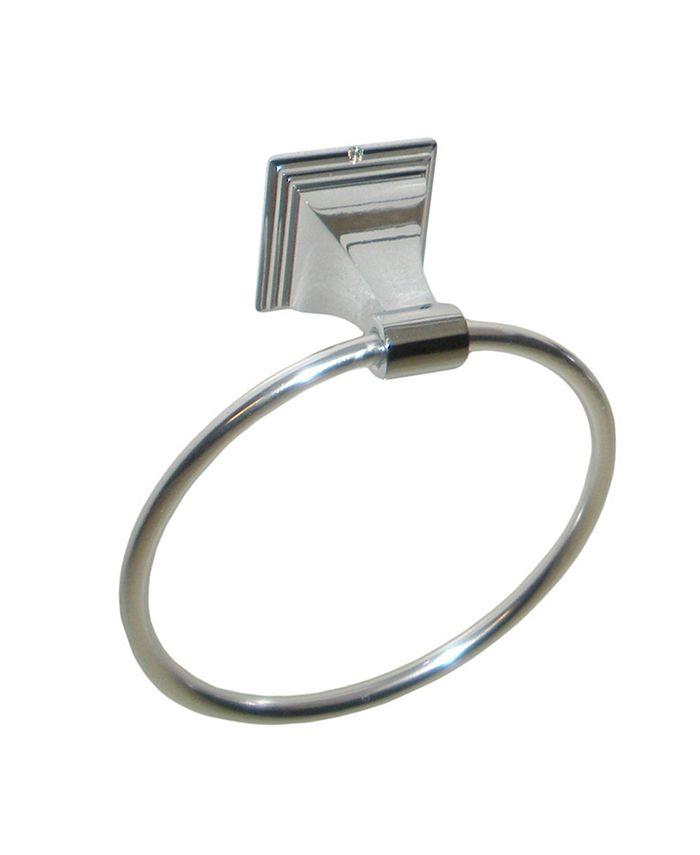 Arista Bath Products - Leonard Towel Ring CH