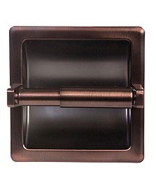 Arista Recessed Toilet Paper Holder Oil-Rubbed Bronze Finish