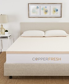 "CopperFresh 2"" Extra Support Gel Memory Foam Twin XL Mattress Topper"
