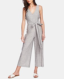 Carousel Striped Belted Jumpsuit