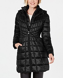 EcoPlume Bibbed Packable Hooded Puffer Coat