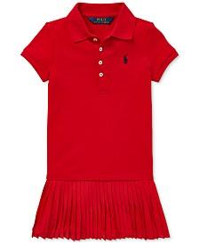 Polo Ralph Lauren Little Girls Pleated Mesh Polo Dress