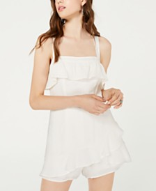 City Studios Juniors' Ruffled Skort Romper