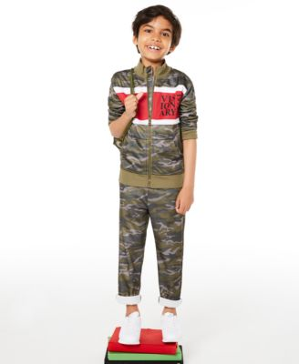 Little Boys Camouflage Tricot Pants, Created for Macy's