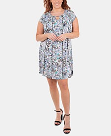 Plus Size Embellished Fit & Flare Dress