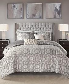 Madison Park Savannah Queen 7 Piece Jacquard Comforter Set