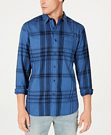 Men's Frank Regular-Fit Plaid Shirt, Created for Macy's