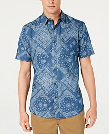 Men's Cowboy Bandana-Print Shirt, Created for Macy's