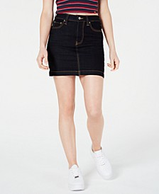 Denim Carpenter Mini Skirt