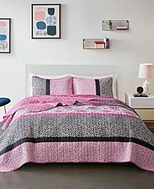 CLOSEOUT! Ophelia Twin/Twin XL 2 Piece Reversible Coverlet Set