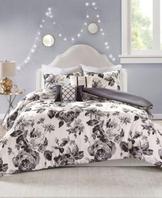 Dorsey Twin/Twin XL 4 Piece Floral Print Duvet Cover Set