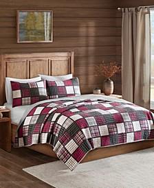 Tulsa 3-Pc. Oversized Plaid Print Cotton Reversible Quilt Sets