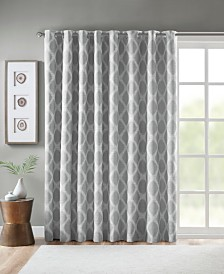 "SunSmart Blakesly 100"" x 84"" Printed Ikat Blackout Patio Curtain"
