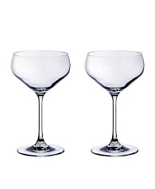Villeroy & Boch Purismo Bar Champagne Coup: Set of 2