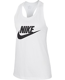 Nike Sportswear Essential Cotton Logo Racerback Tank Top