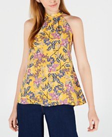 Maison Jules Floral-Print Halter Top, Created for Macy's