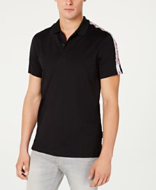 A|X Armani Exchange Men's Logo Tape Polo Created For Macy's