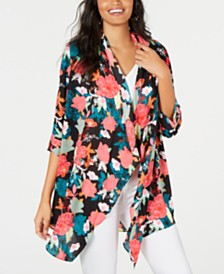 Thalia Sodi Floral-Print Kimono, Created for Macy's
