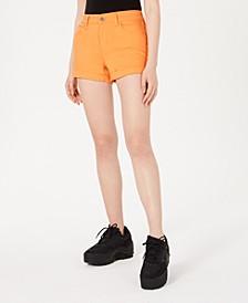 Juniors' Cuffed Denim Shorts