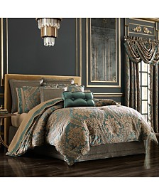 J Queen Montgomery Emerald Green California King Comforter Set