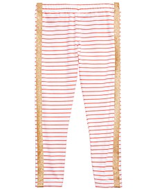 Little Girls Glitter Stripe Leggings, Created for Macy's