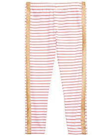 Epic Threads Little Girls Glitter Stripe Leggings, Created for Macy's