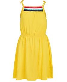 Epic Threads Big Girls Crochet-Trim Crinkle Dress, Created for Macy's