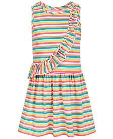 Epic Threads Little Girls Rainbow Stripe Dress, Created for Macy's