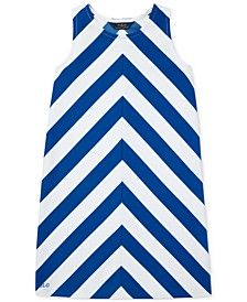 Big Girls Chevron Stretch Ponté Knit Dress