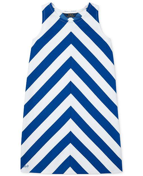 Polo Ralph Lauren Big Girls Chevron Stretch Ponté Knit Dress
