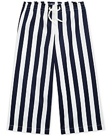 Polo Ralph Lauren Toddler Girls Striped Cotton Dobby Pants