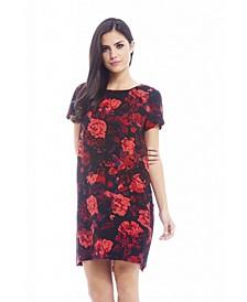 Printed Dip Hem Smock Dress