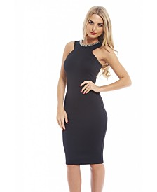 AX Paris Embellished Neckline Bodycon Dress