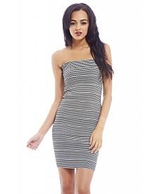 AX Paris Bandage Stripe Sweetheart Dress