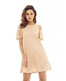 AX Paris Lace Cold Shoulder Swing Dress