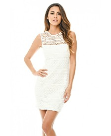 AX Paris Sleeveless Crochet Bodycon Mini Dress