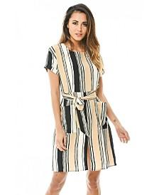 AX Paris Striped Shirt Dress
