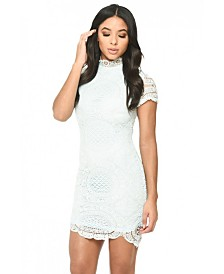AX Paris Baby High Neck Lace Mini Dress