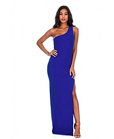 Asymmetric Thigh Split Maxi Dress