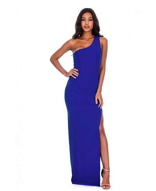 AX Paris Asymmetric Thigh Split Maxi Dress