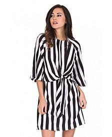 Striped Tie Waist Dress