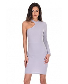 One Sleeve Choker Bodycon Dress