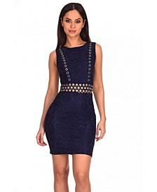 Lace Eyelet Detailed Dress
