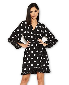 AX Paris Polka Dot Wrap Skater Dress