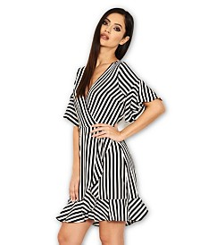 AX Paris Striped Wrap Mini Dress