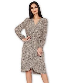 AX Paris Animal Print Wrap Style Dress