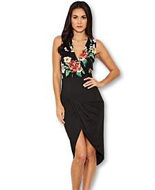 AX Paris Floral Ruched Dress