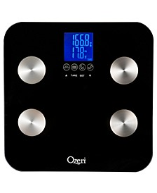 Touch 440 lbs Total Body Fat, Muscle, Bone and Hydration Scale, with Infant Tare
