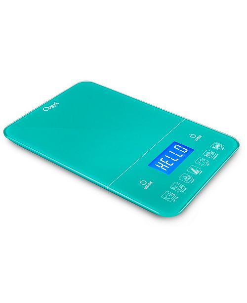 Ozeri Touch III 22 lbs / 10 kg Kitchen Scale with Calorie Counter, in Tempered Glass